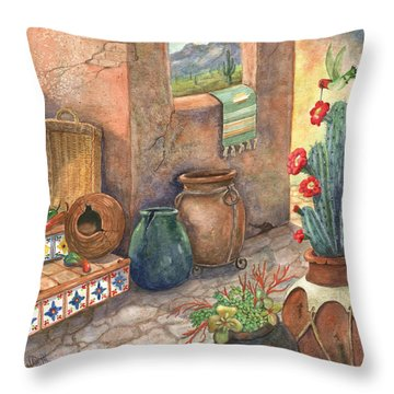 Throw Pillow featuring the painting From This Earth by Marilyn Smith