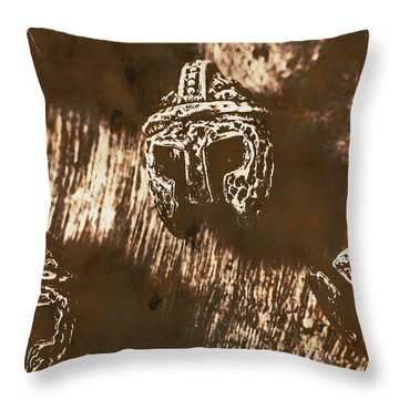 From Warriors Of Past Throw Pillow
