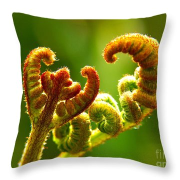 Frond Fern Throw Pillow