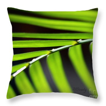 Frond Geometry Throw Pillow