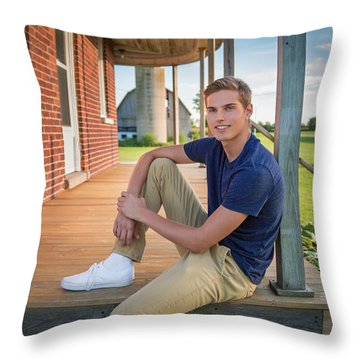 Throw Pillow featuring the photograph Front Porch Portrait by Bill Pevlor