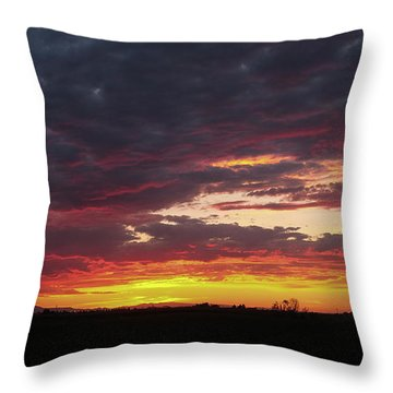 Front Range Sunset Throw Pillow by Monte Stevens