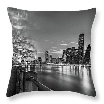 Front Row Roosevelt Island Throw Pillow by Az Jackson