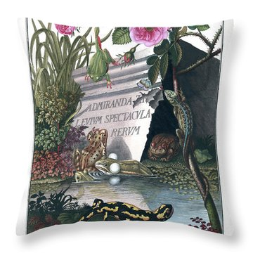 Frontis Of Historia Naturalis Ranarum Nostratium Throw Pillow