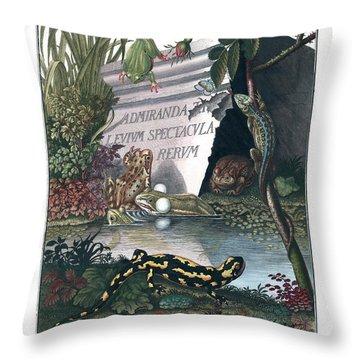 Frontis Of Historia Naturalis Ranarum Nostratium Throw Pillow