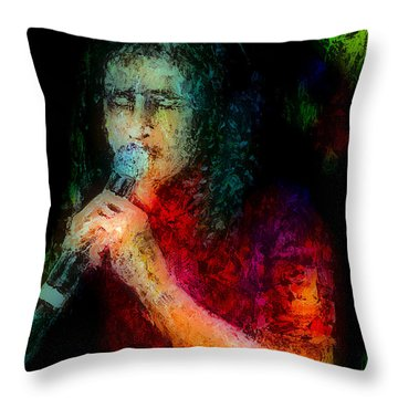 Frontman Throw Pillow by Arline Wagner