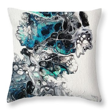 Frost And Ice Throw Pillow