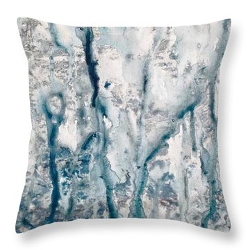 Frost And Rain On The Windows Throw Pillow