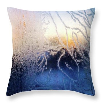 Frost At Minus 22 Sunrise Throw Pillow