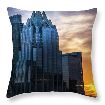 Frost Bank Tower Throw Pillow