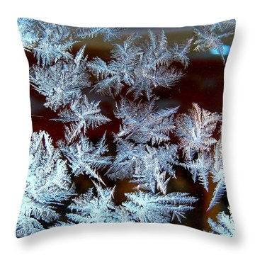 Frost Design Throw Pillow by Shirley Sirois
