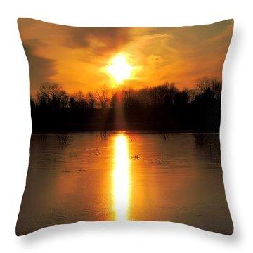 Frost Fire  Throw Pillow