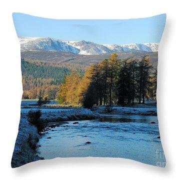 Frost In The Glen - Invercauld Throw Pillow