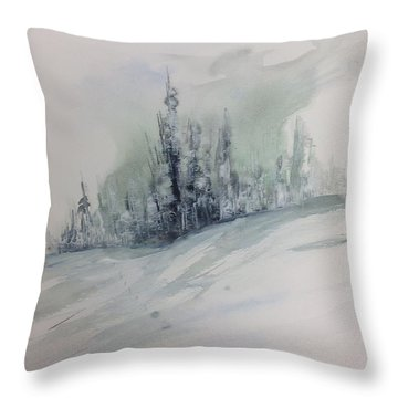 Frost On The Pines Throw Pillow