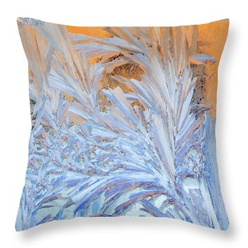 Frost Patterns On Window Throw Pillow