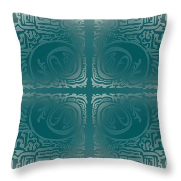 Frost Squiggle Tile Throw Pillow