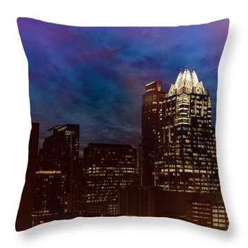 Frost Tower Throw Pillow