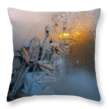 Frost Warning Throw Pillow