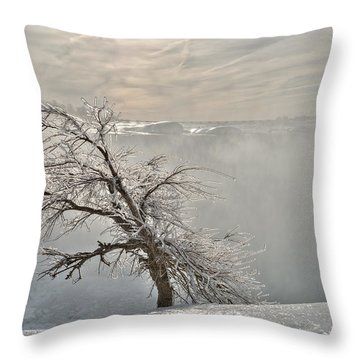 Throw Pillow featuring the photograph Frostbite by Sebastien Coursol
