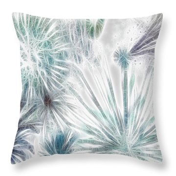 Throw Pillow featuring the digital art Frosted Abstract by Methune Hively