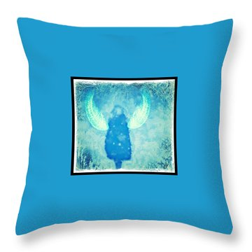 Frosted Angel Throw Pillow