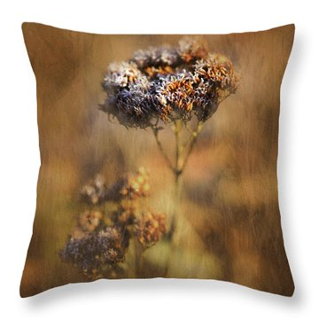 Frosted Bloom Throw Pillow