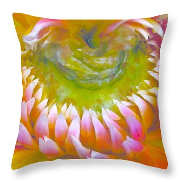 Frosted Throw Pillow by Gwyn Newcombe