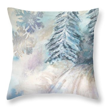 Frosted Secrets Of Winter Throw Pillow