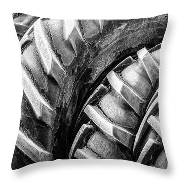 Frosted Tires Throw Pillow
