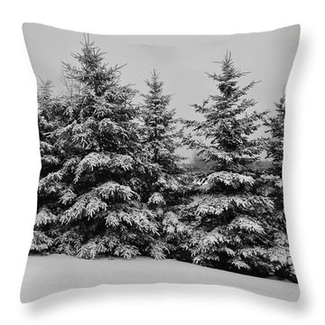 Throw Pillow featuring the photograph Frosted Trees by Kathleen Sartoris