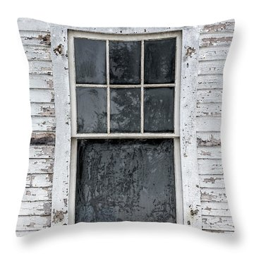 Frosted Window On An Old House Throw Pillow