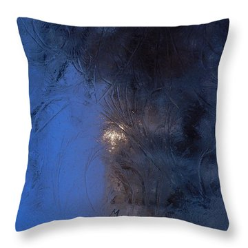 Frostwork - Engraved Night Throw Pillow