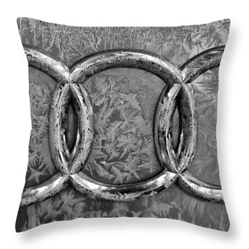 Frosty Audi Throw Pillow by Catherine Melvin