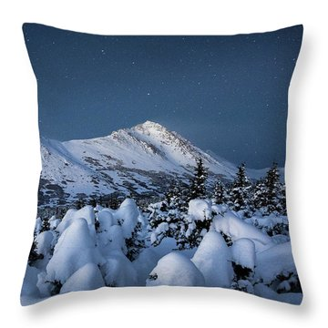 Throw Pillow featuring the photograph Frosty False Omalley C by Tim Newton