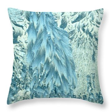 Frosty Forest Throw Pillow