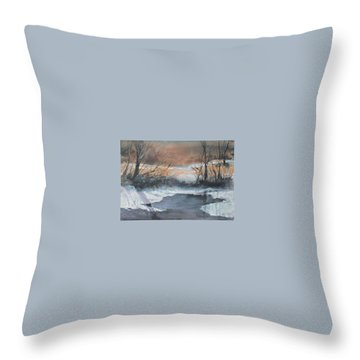 Frosty Morn. Throw Pillow