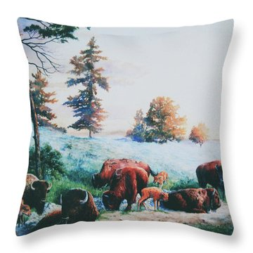 Frosty Morning Throw Pillow by Hanne Lore Koehler