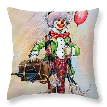 Frosty The Clown Throw Pillow