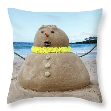 Frosty The Sandman Throw Pillow
