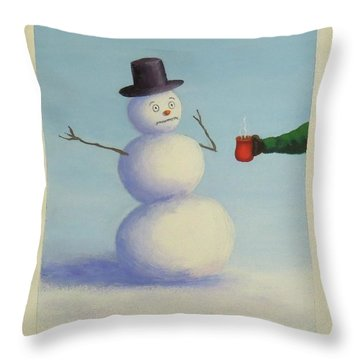 Frosty's Nightmare I Throw Pillow