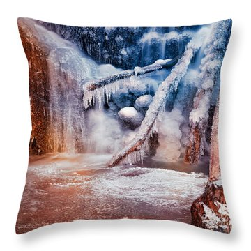 Frozen Avalon Fantasy Falls Throw Pillow