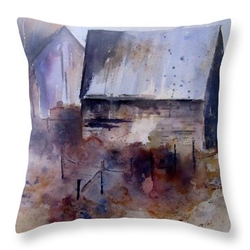 Frozen Barn Throw Pillow