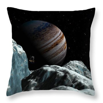 Frozen Blue Gem Throw Pillow