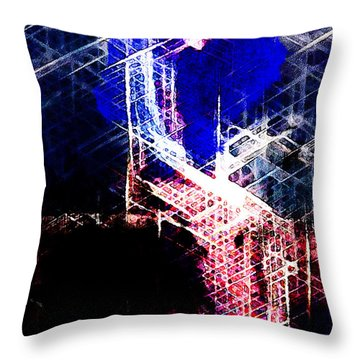 Frozen Blue Woman Throw Pillow