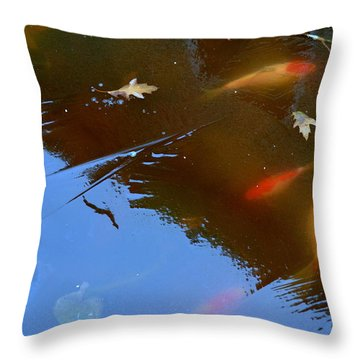 Frozen Carp Throw Pillow