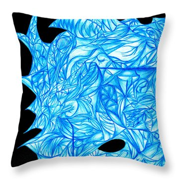 Throw Pillow featuring the drawing Frozen Desire by Jamie Lynn
