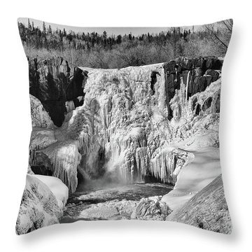 Frozen High Falls Throw Pillow