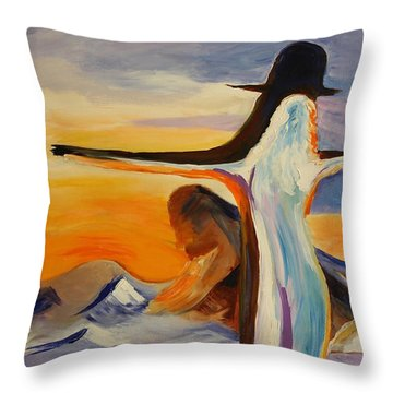Frozen In Time Throw Pillow by Geeta Biswas
