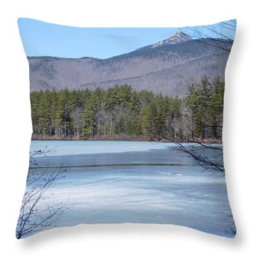 Frozen Lake Chocorua Throw Pillow