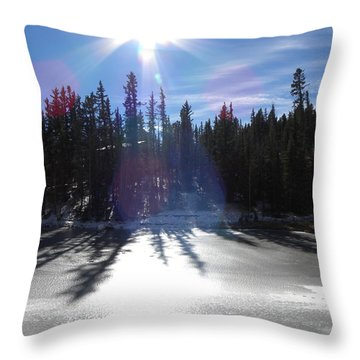 Sun Reflecting Kiddie Pond Divide Co Throw Pillow